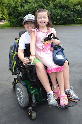 Alex and Lauren in Wheelchair