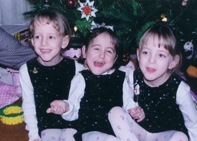 Christmas 2000. Emily, Rachel, Lauren