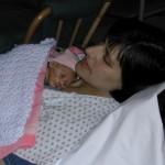 mom holding preemie