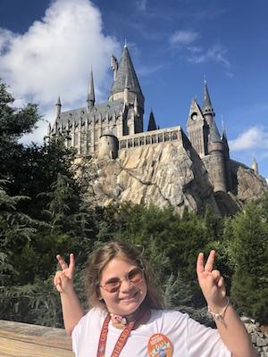Young girl at Hogwarts