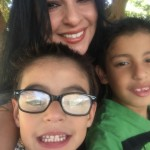 mom and two boys