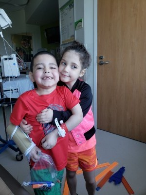 boy and girl in hospital