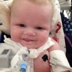 baby with trach in hospital
