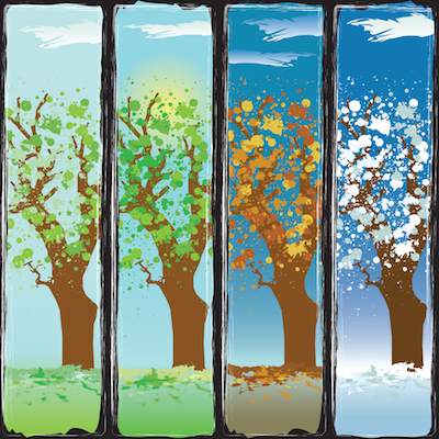 trees of all four seasons