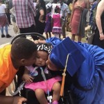 toddler with a disability and her two siblings