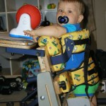 Baby in a stander