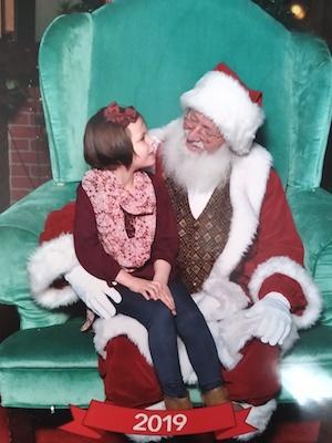 child with santa