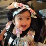little girl in wheelchair
